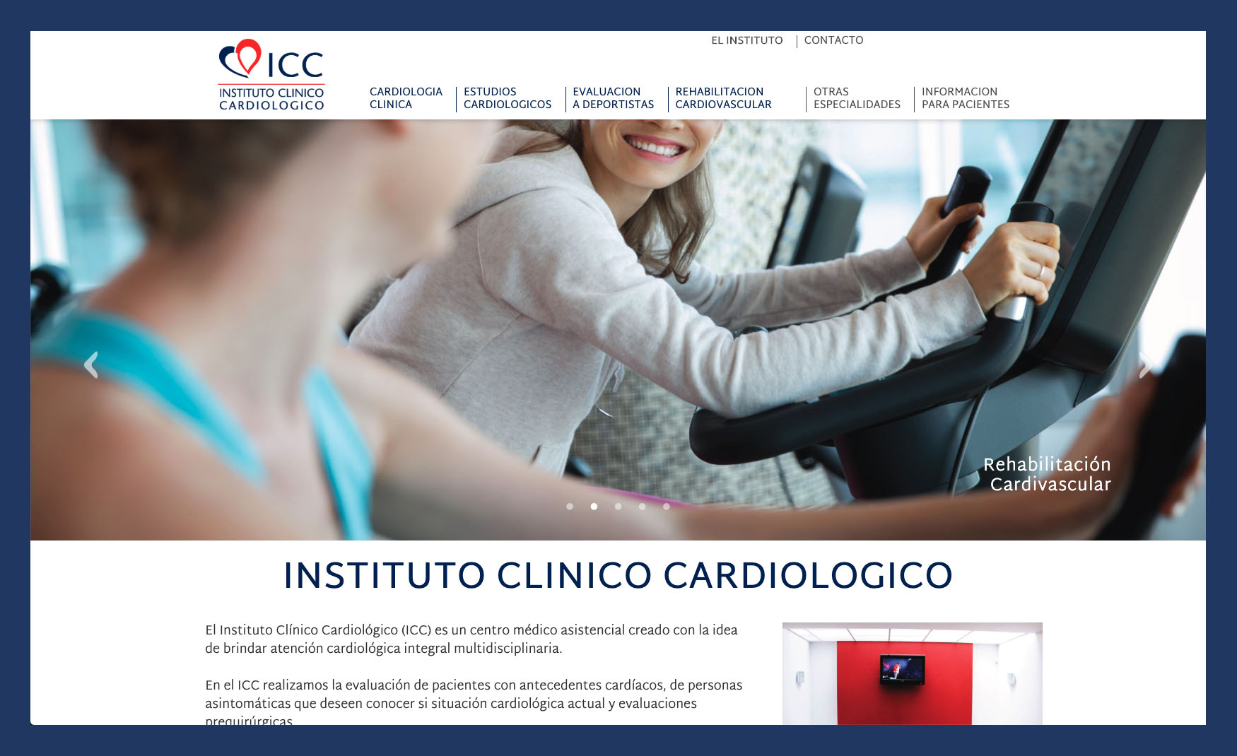 Instituto Clínico Cardiológico, Logo and Web design. 4